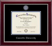 Concordia University Portland Masterpiece Medallion Diploma Frame in Gallery Silver