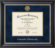 Concordia University Portland Gold Engraved Medallion Diploma Frame in Noir