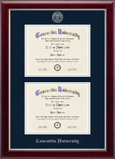 Concordia University Portland Double Diploma Frame in Gallery Silver