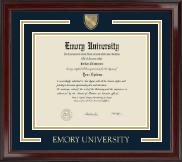 Emory University  Showcase Edition Diploma Frame in Encore