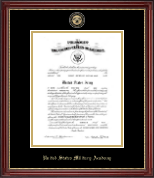 Masterpiece Medallion Commission Certificate Frame in Kensington Gold