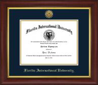 Gold Engraved Medallion Diploma Frame in Redding
