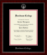 Davidson College Silver Embossed Diploma Frame in Sutton