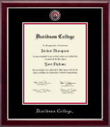 Davidson College Masterpiece Medallion Diploma Frame in Gallery Silver