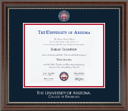 Masterpiece Medallion Diploma Frame in Chateau
