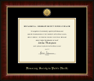 Gold Engraved Medallion Certificate Frame in Murano