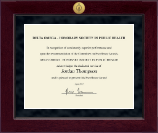 Delta Omega Honorary Society in Public Health Millennium Gold Engraved Certificate Frame in Cordova