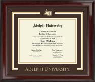 Adelphi University Spirit Medallion Diploma Frame in Encore