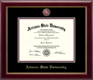 Arizona State University Diploma Frames Church Hill Classics