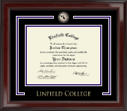 Linfield College Showcase Edition Diploma Frame in Encore