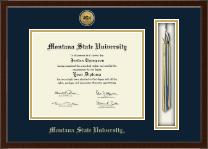 Gold Engraved Tassel Edition Diploma Frame in Delta