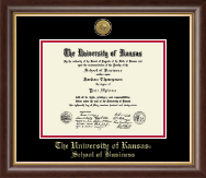 Gold Engraved Medallion Diploma Frame in Hampshire
