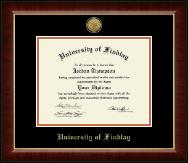 Gold Engraved Medallion Diploma Frame in Murano