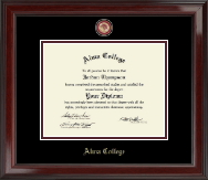 Masterpiece Medallion Diploma Frame in Encore