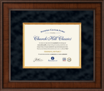 "Custom Presidential Document Frame - 8.5"" x 11"" horizontal document in Madison"