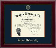 Baker University Gold Embossed Diploma Frame in Gallery