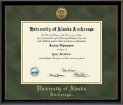 Gold Engraved Diploma Frame in Onexa Gold