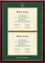 Babson College Double Diploma Frame in Gallery
