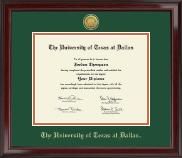 Gold Engraved Medallion Diploma Frame in Encore