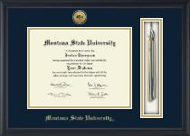 Gold Engraved Tassel Edition Diploma Frame in Omega