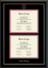 Double Diploma Frame in Onyx Gold