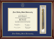 Fort Valley State University Tassel Edition Diploma Frame in Southport Gold