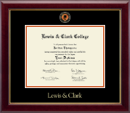 Lewis & Clark College Masterpiece Medallion Diploma Frame in Gallery