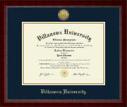 Gold Engraved Medallion Diploma Frame in Sutton