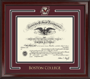 Boston College Spirit Medallion Diploma Frame in Encore
