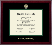Baylor University Masterpiece Medallion Diploma Frame in Gallery
