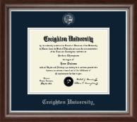 Creighton University Silver Embossed Diploma Frame in Devonshire