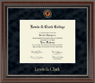 Lewis & Clark College Regal Edition Diploma Frame in Chateau