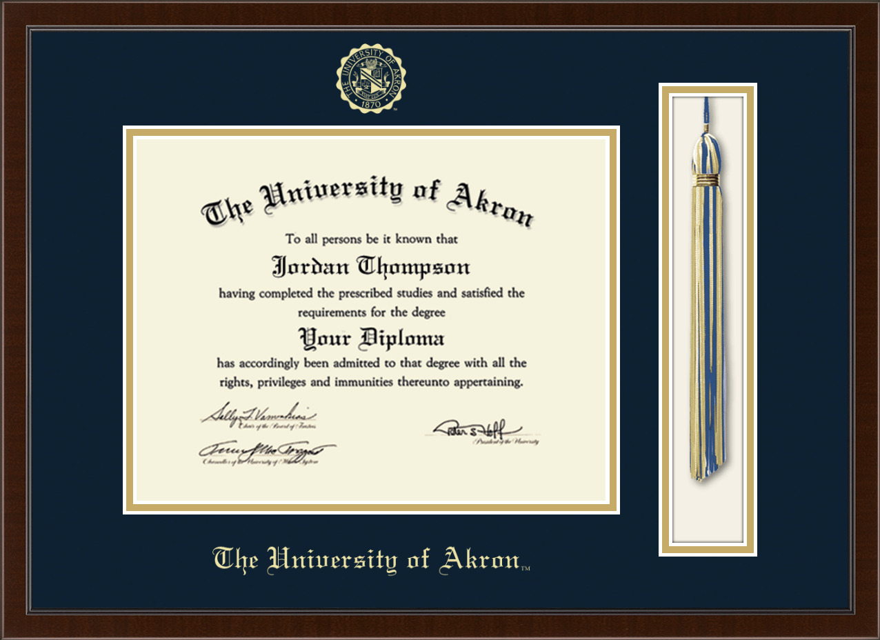 The University Of Akron Tassel Edition Diploma Frame In Delta Item 311830 From Bookstore At University Of Akron