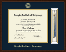 Georgia Institute of Technology Tassel Edition Diploma Frame in Delta