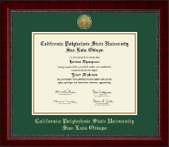 California Polytechnic State University San Luis Obispo Gold Engraved Medallion Diploma Frame in Sutton