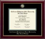 California Polytechnic State University San Luis Obispo Masterpiece Medallion Diploma Frame in Gallery