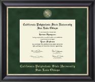 California Polytechnic State University San Luis Obispo Regal Edition Diploma Frame in Noir