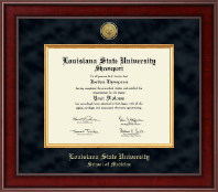 Louisiana State University School of Medicine in Shreveport Presidential Gold Engraved Diploma Frame in Jefferson