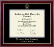 Louisiana State University School of Medicine in Shreveport Gold Embossed Diploma Frame in Gallery