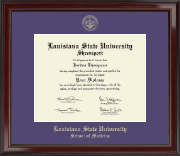 Louisiana State University School of Medicine in Shreveport Gold Embossed Diploma Frame in Encore