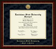 Louisiana State University School of Medicine in Shreveport Gold Engraved Medallion Diploma Frame in Murano
