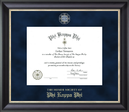 Regal Edition Certificate Frame in Noir