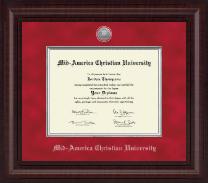 Presidential Silver Engraved Diploma Frame in Premier