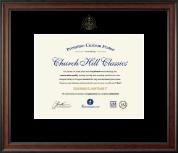 Embossed Dental Certificate Frame in Studio