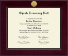 Choate Rosemary Hall Century Gold Engraved Diploma Frame in Cordova