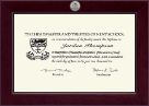 Kent School in Connecticut Century Silver Engraved Diploma Frame in Cordova