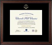 Embossed Law Certificate Frame in Studio
