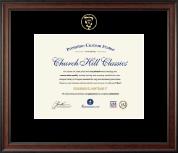 Embossed Veterinary Certificate Frame in Studio