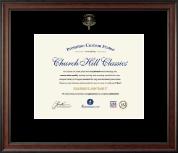 Embossed Optometry Certificate Frame in Studio