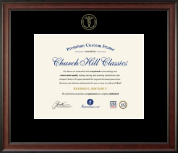 Embossed Medical Certificate Frame in Studio